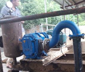 畜牧业养殖场:猪粪输送泵